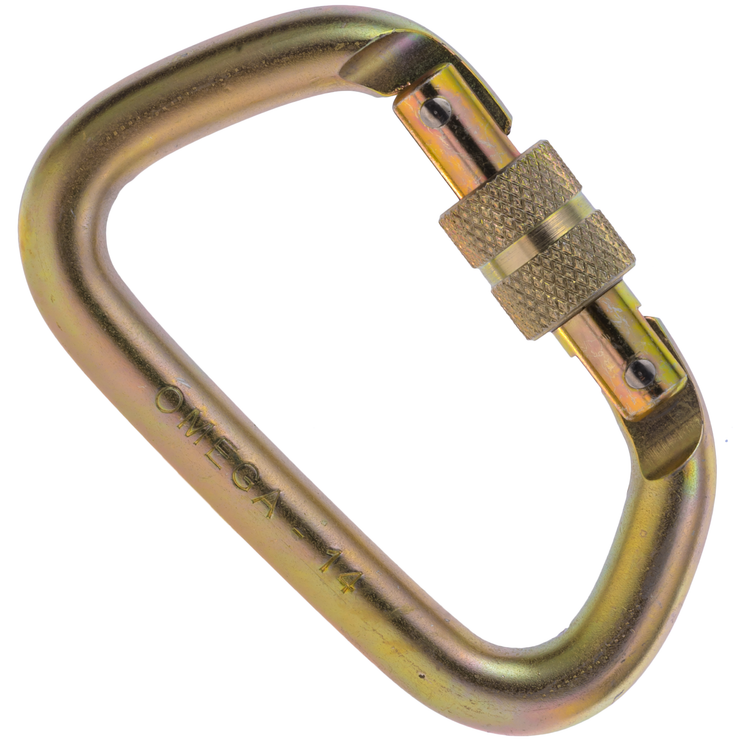 "Omega Pacific, 1/2"" Modified D Steel Carabiner"