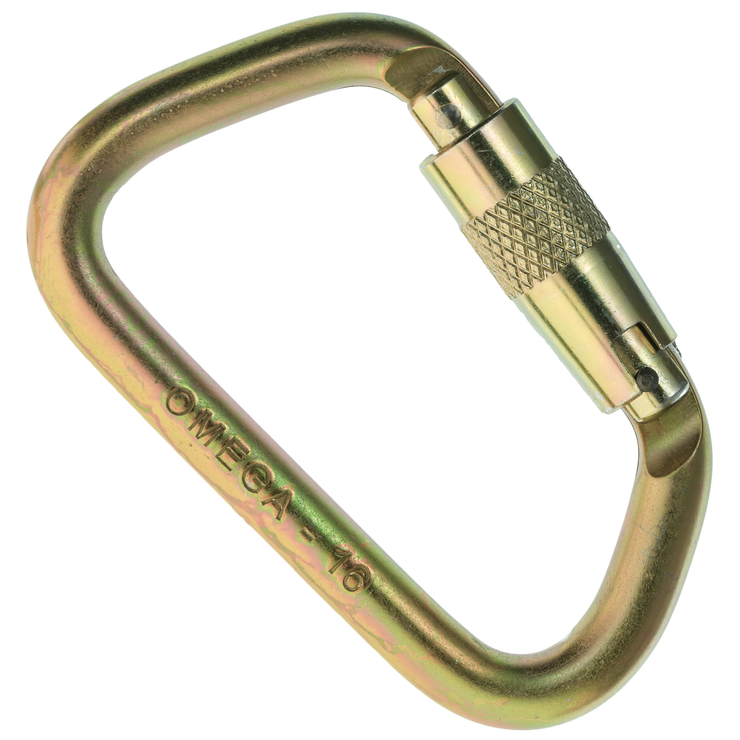 "Omega Pacific, 7/16"" Modified D Steel Carabiner"