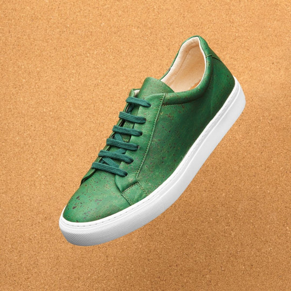 Women's Green Vegan Cork Shoes