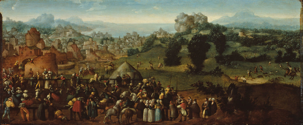 Landscape with Tournament and Hunters