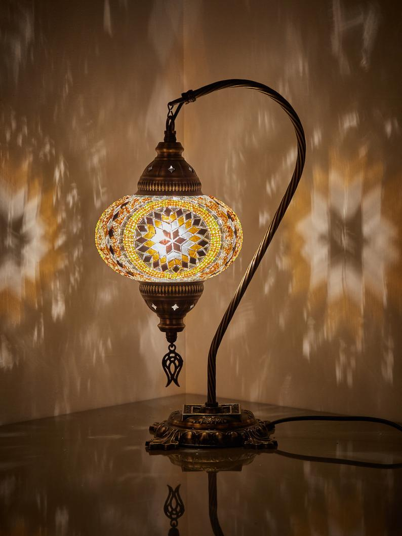 10 Colors- Turkish Moroccan Mosaic Table Lamp