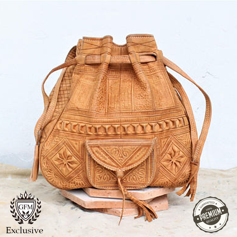 The Madekilim Moroccan Leather Bag