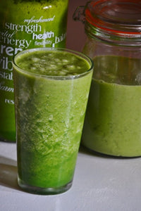 Breakfast and lunch green smoothies….
