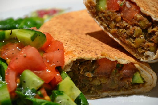 Vegie Head lentil burritos