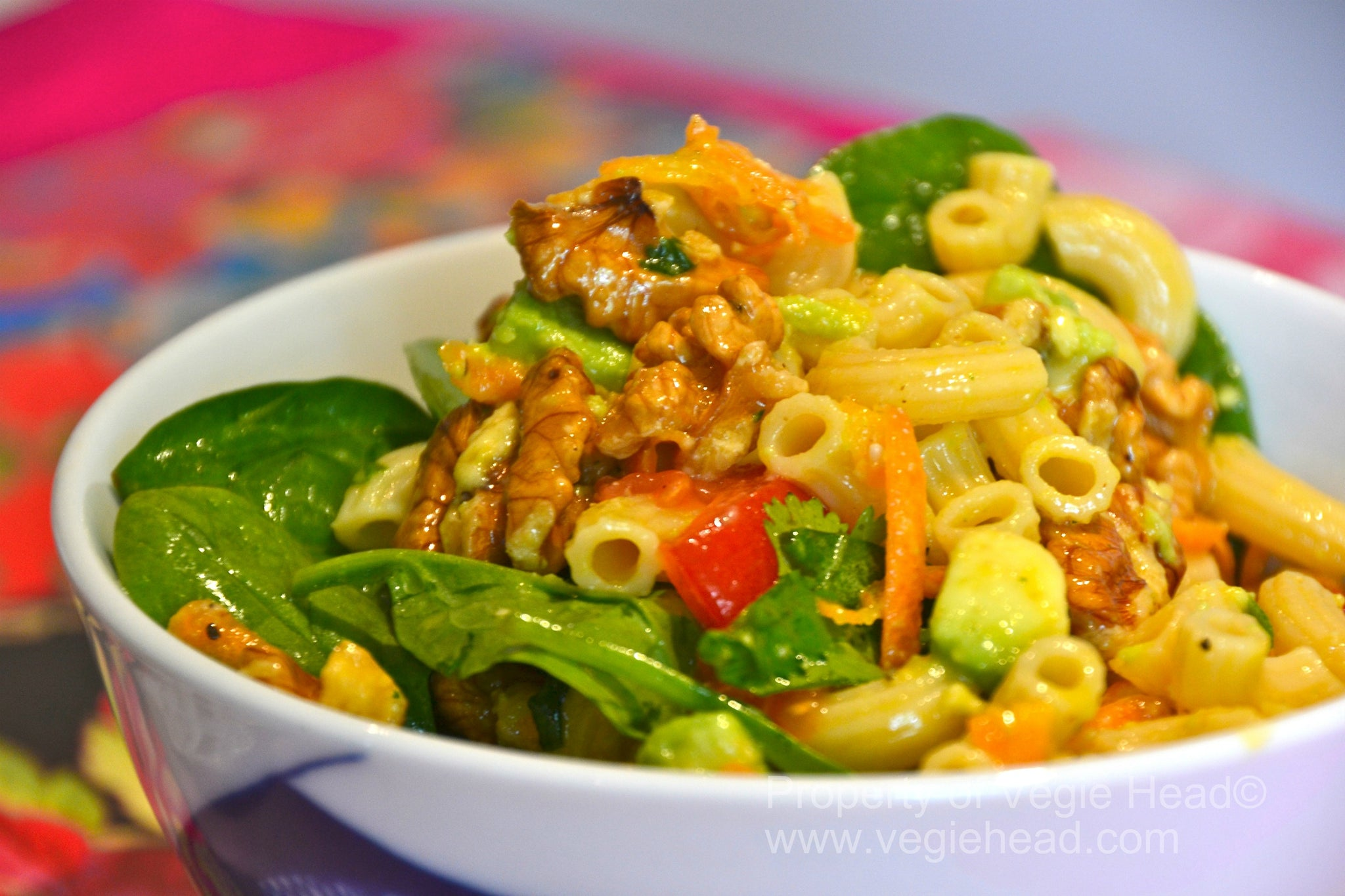 Californian walnut pasta salad…