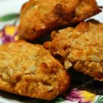 Coconut, oat and macadamia nut cookies
