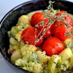 Creamy Gnocchi with Roasted Sweet Cherry Tomatoes