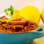 Moroccan Lentil Tagine with Eggplant and Preserved Lemons