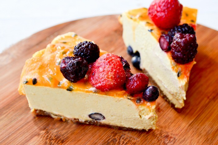 Summer Passion Raw Cheesecake