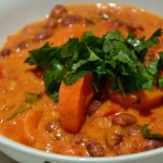 South African sweet potato, kidney bean and peanut stew