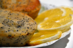 Vegan lemon-poppy seed muffins