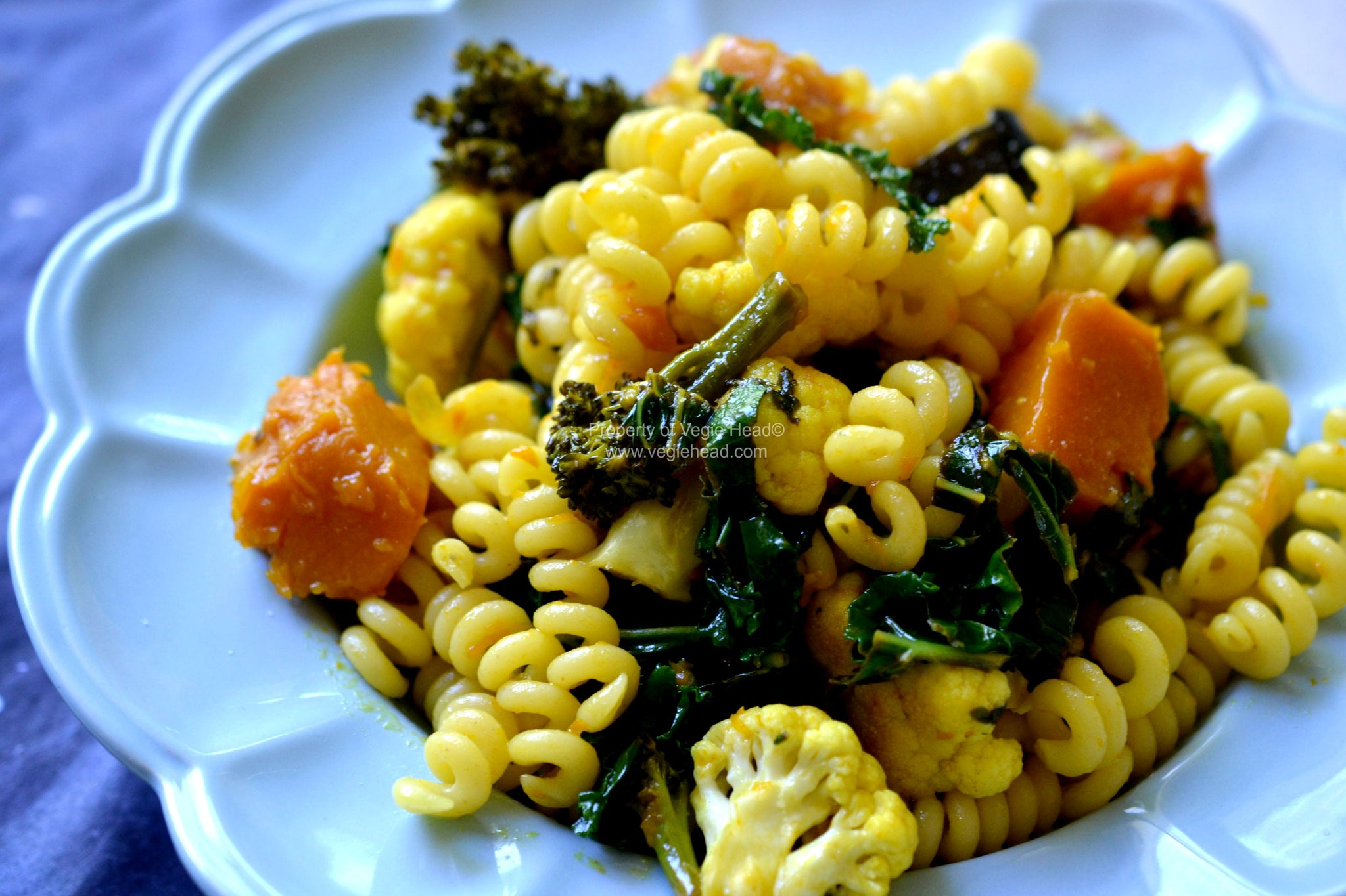 Pumpkin and Kale Pasta Salad