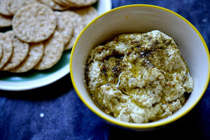 Za'atar Spiced Cashew Cheese (Video and Recipe)