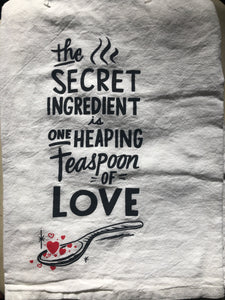 "Dish towel ""Secret Ingredient Love"""