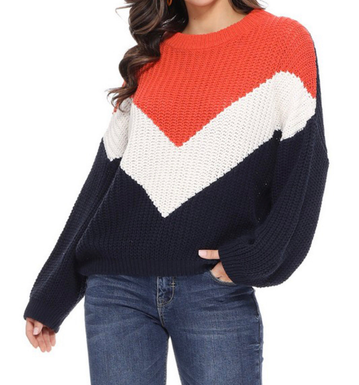Throwback Color Block Sweater