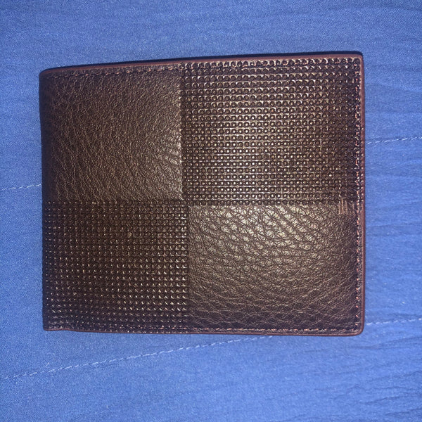 Billfold style wallet brown