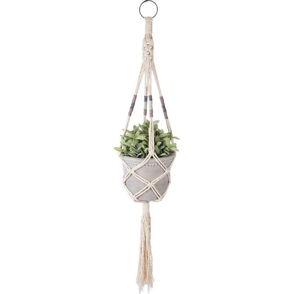 Boho hand knotted plant hanger