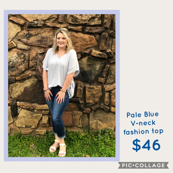 Powder Blue fashion top