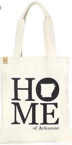 Arkansas Home canvas tote
