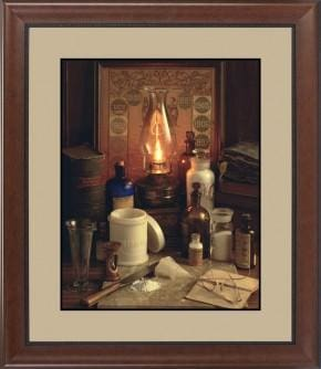Apothecary 1889 - 16x20 / Image Framed Matting and Glass - printed images