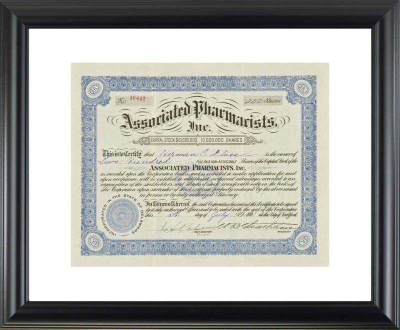 Associated Pharmacists Inc. - printed image