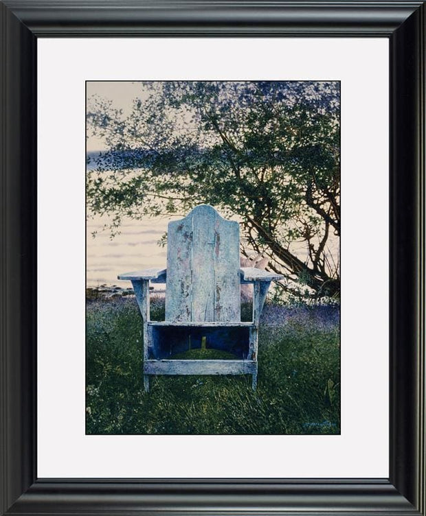 The Blue Chair - watercolors