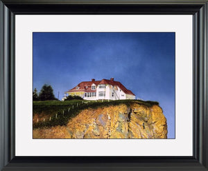 The Molson House Gaspe - watercolors