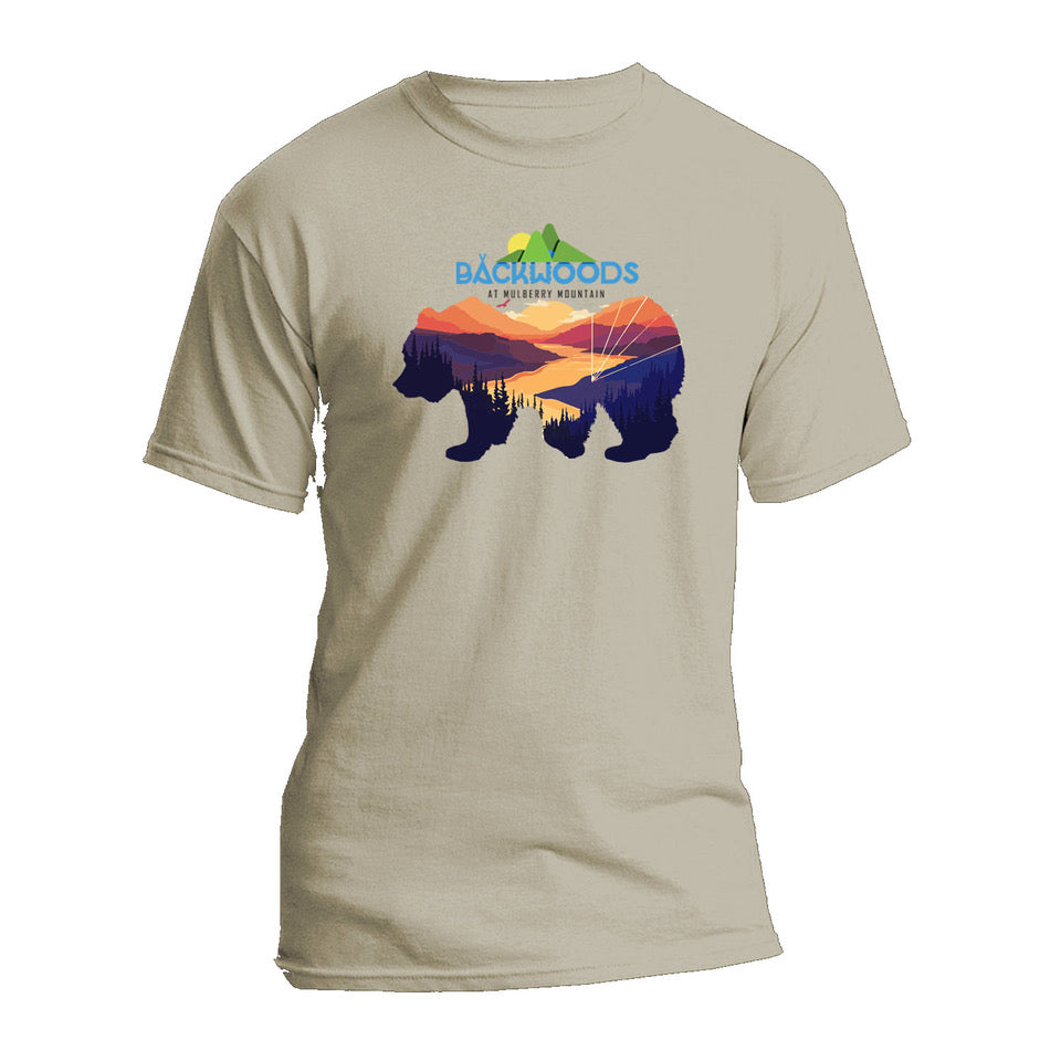 Backwoods at Mulberry Mountain 2020 Official Bear Lineup T-Shirt