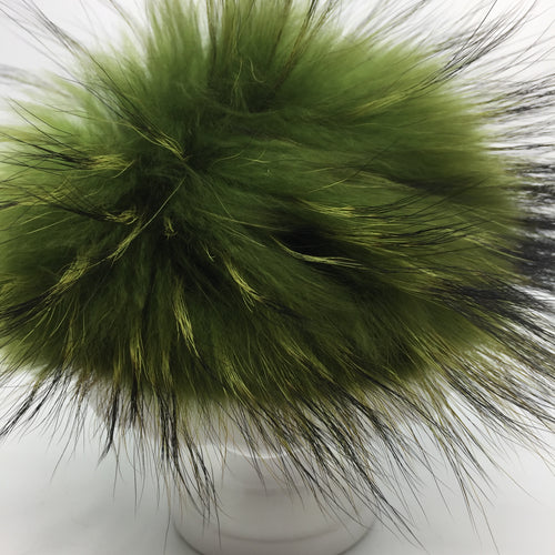 Real fur pom - green