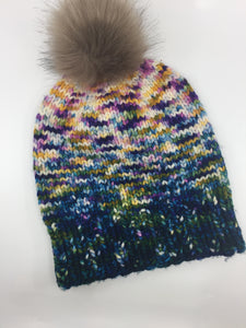 Last minute wow factor hat kit - forest green multi