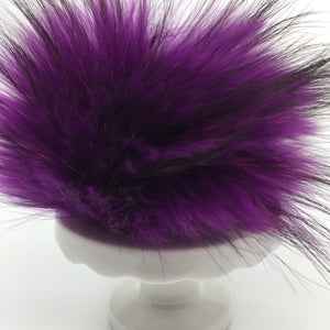 Real fur pom - purple, black
