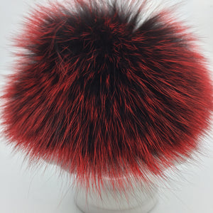 Real fur pom - red, black