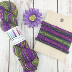 Travel Agent For Guilt Trips - hand-dyed self-striping sock yarn