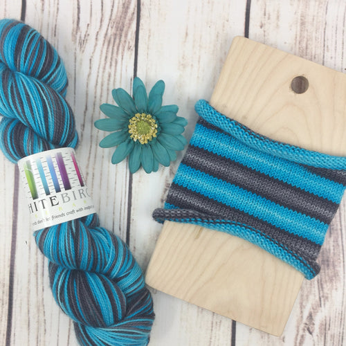 Electric Slide - hand-dyed self-striping sock yarn