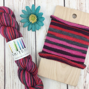 Career-Obsessed Banshee - hand-dyed self-striping sock yarn