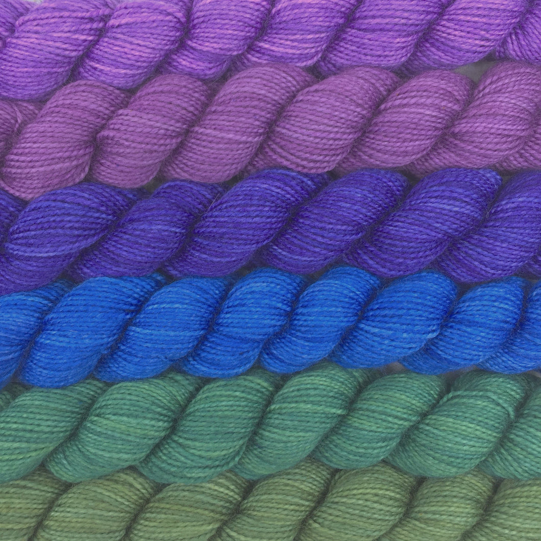 Peacock shawl kit - 80% SW merino, 20% nylon