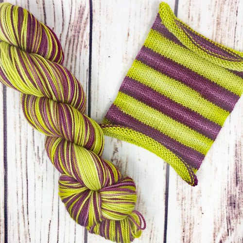 Acid Reflex - hand-dyed self-striping sock yarn