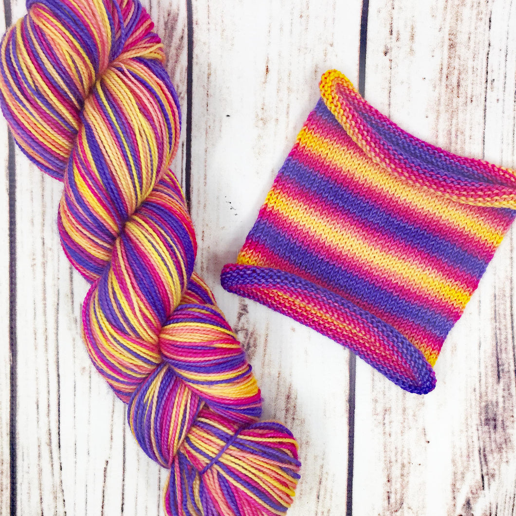 Age of Aquariums - hand-dyed self-striping sock yarn