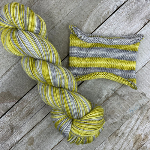 All That Glitters - hand-dyed self-striping sock yarn