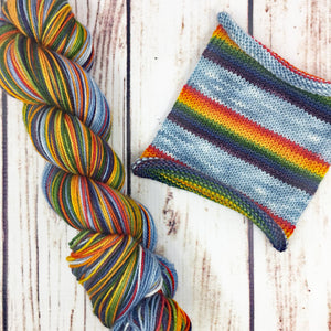 Chase Your Rainbow - hand-dyed self-striping sock yarn