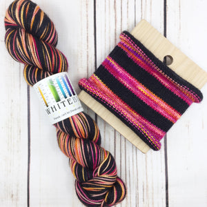 Crime Scene Barbie - hand-dyed self-striping sock yarn