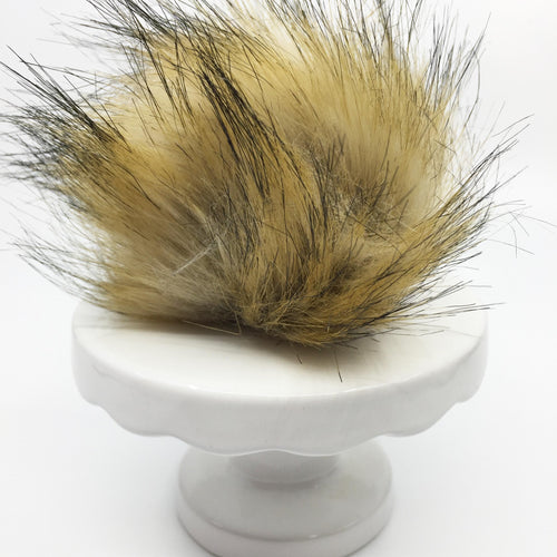 Faux fur pom - natural