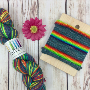 A Pessimist's Rainbow - hand-dyed self-striping sock yarn