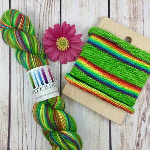 Tanya's Rainbow - hand-dyed self-striping sock yarn