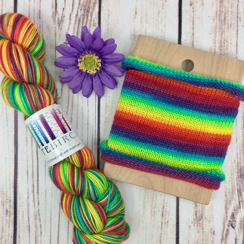 The Full Monty - hand-dyed self-striping sock yarn