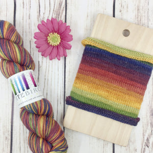 Rhinebeck Rainbow - hand-dyed self-striping sock yarn