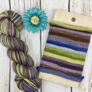 Interesting Times - hand-dyed self-striping sock yarn