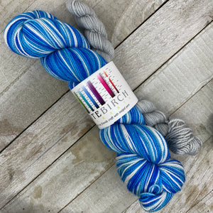 Home For Hanukkah - hand-dyed self-striping sock yarn