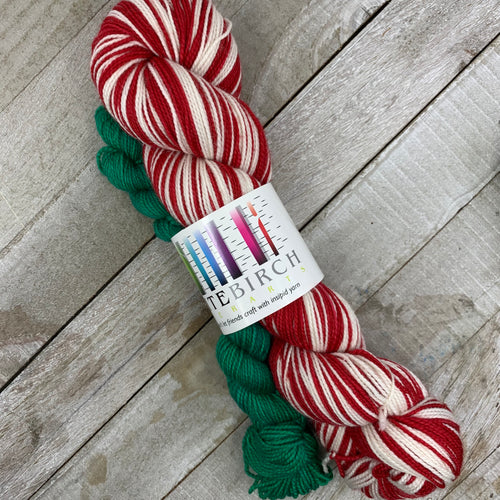 Merry Little Christmas - hand-dyed self-striping sock yarn