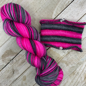 Hello, Demon Kitty - hand-dyed self-striping sock yarn